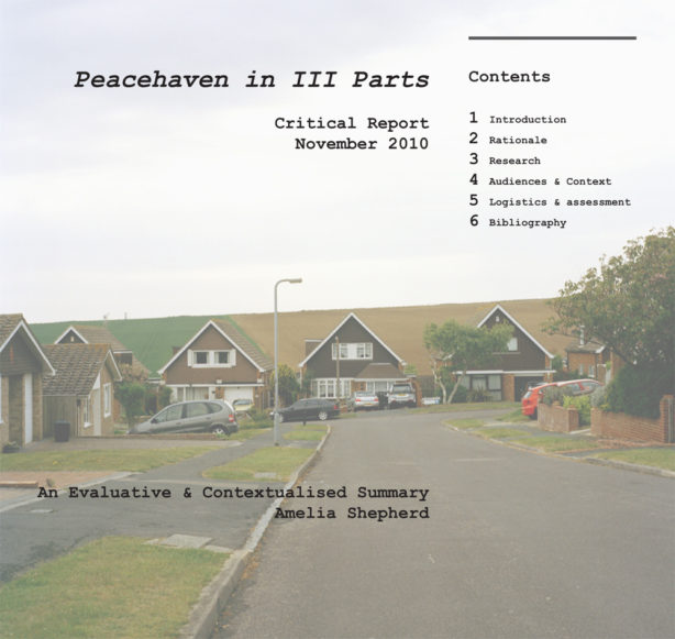Peacehaven in III Parts: LCC MA Critical Report