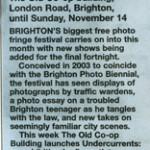 Peacehaven in III Parts press reviews, Brighton Argus, Sussex Leader