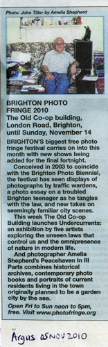 Peacehaven in III Parts press reviews, Brighton Argus, Sussex Leader
