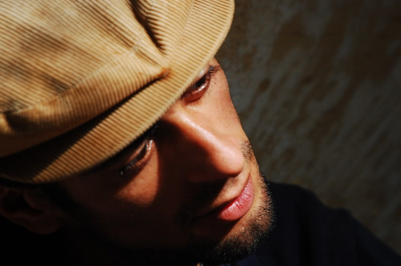 Portrait of Abdel, Moroccan musician by Amelia Shepherd