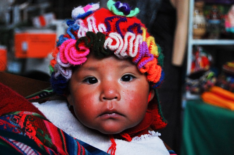 Portrait of Peruvian child, Cusco by Amelia Shepherd