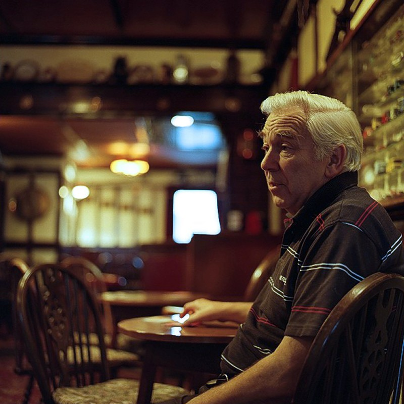 Portrait of Jerry, Landlord at the Dewdrop Inn, Peacehaven by Amelia Shepherd