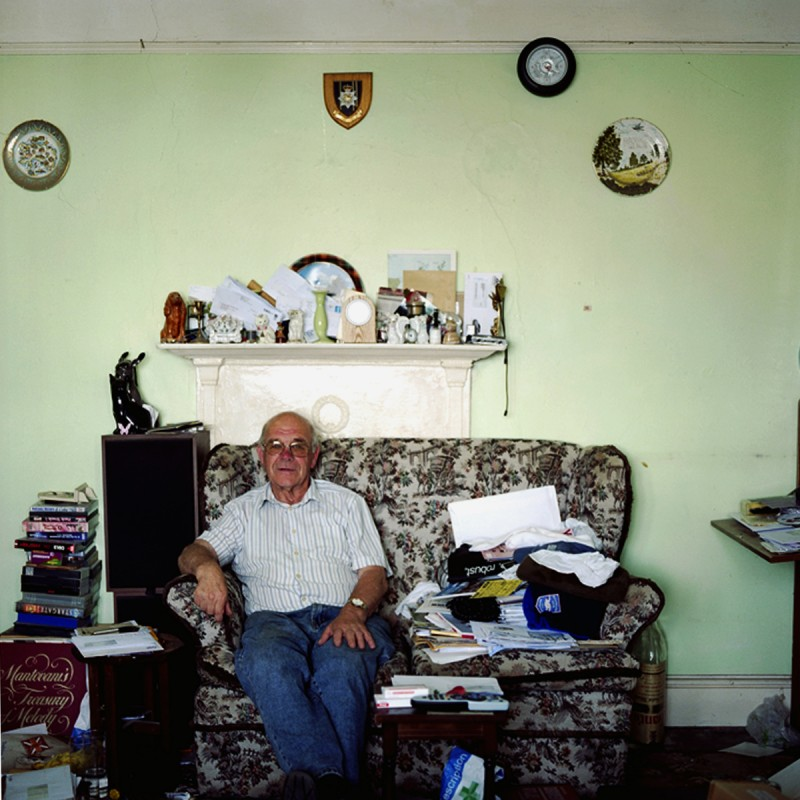Portrait of John Tiller, Peacehaven resident by Amelia Shepherd