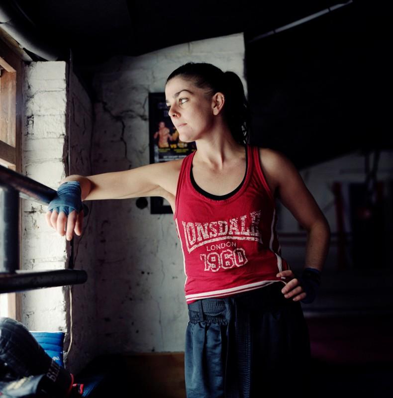 Portrait of Odile Rappaport, Kickboxer