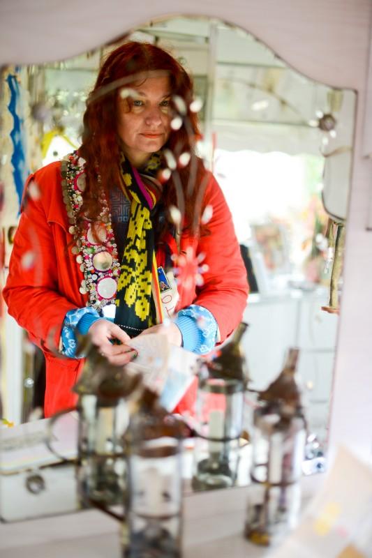 Delaine Le Bas Mirror Portrait by Amelia Shepherd