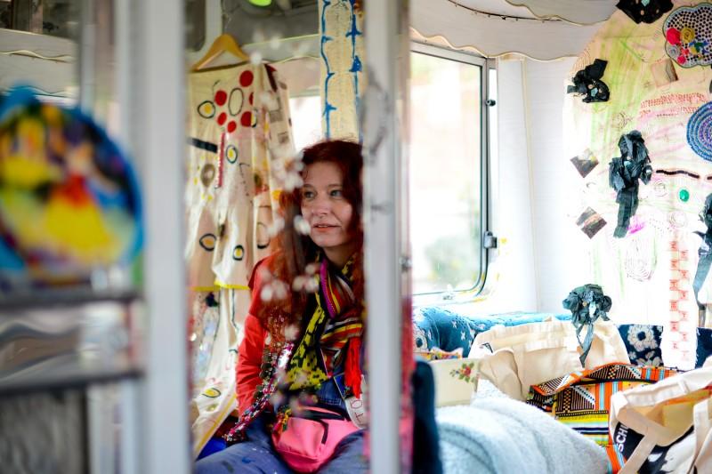 Portrait in Caravan of Delaine Le Bas by Amelia Shepherd