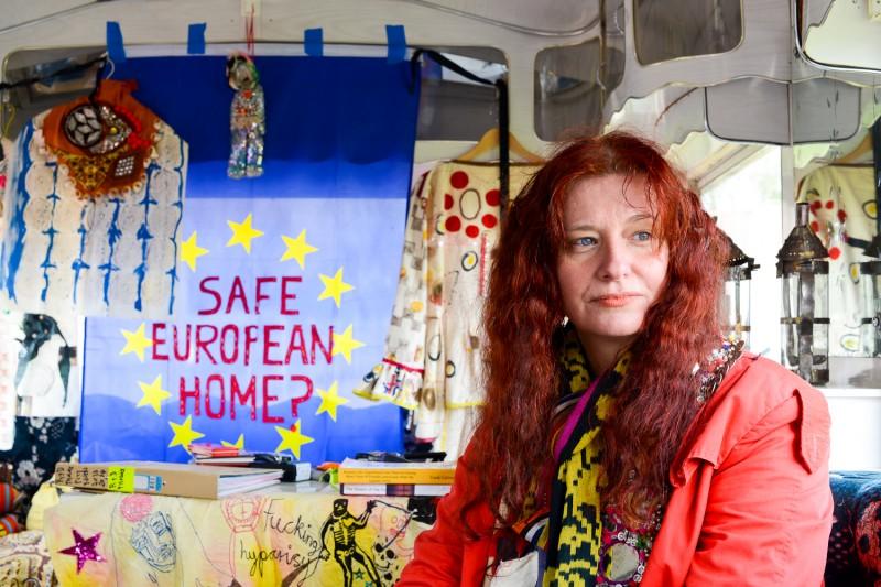 Delaine Le Bas Portrait 'Safe European Home?' Portrait by Amelia Shepherd