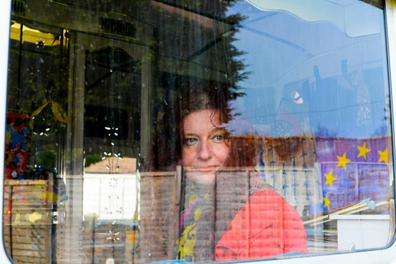 Romany British Artist Delaine Le Bas - Portrait by Amelia Shepherd