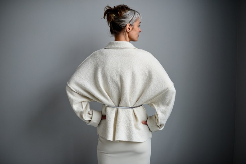 Back Detail - The Makers Atelier Spring Collection Wool Coat