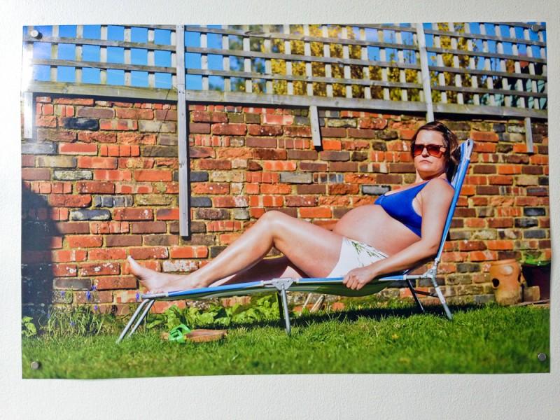 288 Days Installation Self Portrait on Sun Lounger