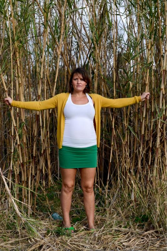 Amelia Shepherd Poses for Self Portrait Whilst Pregnant