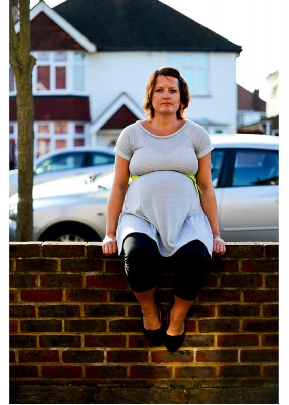 8 Months Pregnant Self Portrait