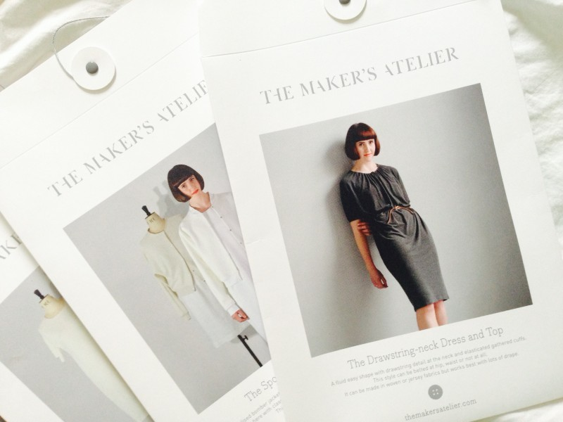 Drawstring-neck Dress and Bomber Jacket Portraits for The Makers Atelier Patterns