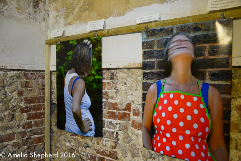 Self Portraits by Amelia Shepherd, anInstallation in Regency Town House Kitchen by photographer Amelia Shepherd for Brighton Photo Fringe 2016