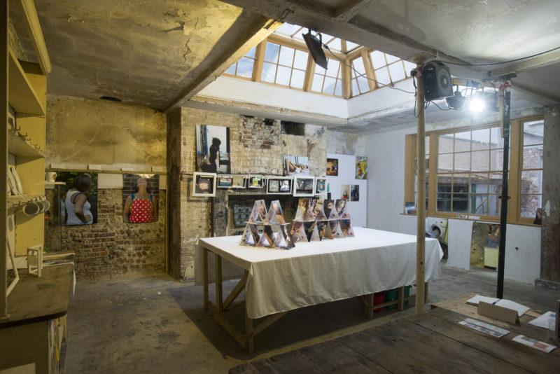 Installation in Regency Town House Kitchen by photographer Amelia Shepherd for Brighton Photo Fringe 2016
