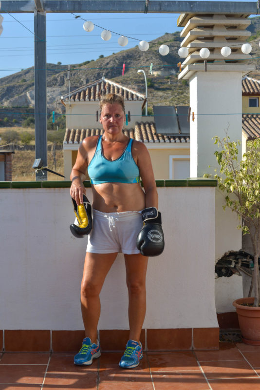 Post Kickboxing Lockdown 2020 Self Portraits in Spain