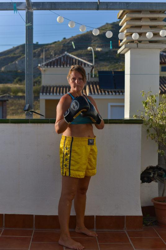 Kickboxing Self Portrait in Spain During Covid-19 Lockdown 2020