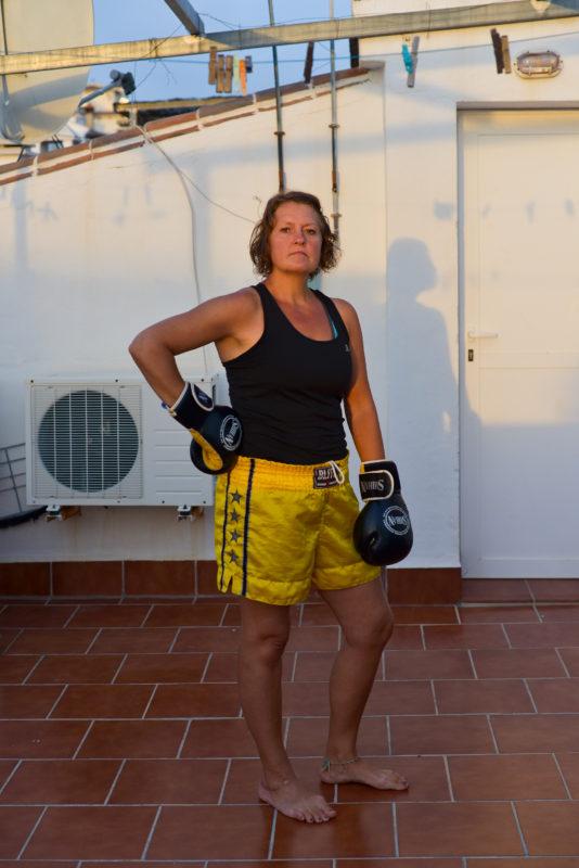Lockdown 2020 Self Portraits Kickboxing